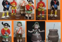 CHAVES BISCUIT / Bolo turma do Chaves em biscuit. https://www.facebook.com/paceanelli/
