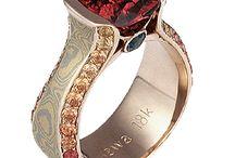 Juicy Liqueur Engagement Rings / by Krikawa Jewelry Designs