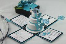 Elegant Wedding, Sweet 16th, Quinceañera Invitations, Pop-Up Invitations / Compilation of JinkysCrafts Handmade Invitations / by Jinky Kowalski