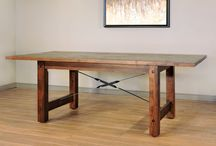 RUFF SAWN MAPLE DINING / CANADIAN MADE Ruff Sawn Maple tables and Chairs Including Live Edge