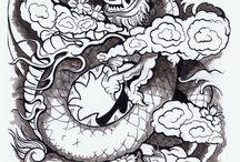 Dragon Tattoo Blue