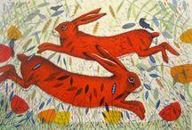 My work: Licensed Prints / birds, hares, wildlife,  Michelle Campbell Art. Licensed Art, Licensing, Art for Licensing.
