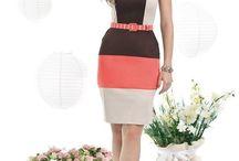 vestidos tricolor