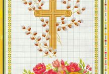 easter Pascha cross stitch