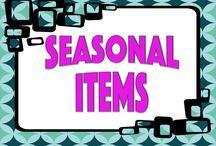 Seasonal Items / Lessons that are seasonal in nature.