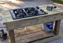 outdoor kitchen  / by Joyce Jordan
