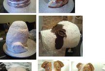 cake dising sculture