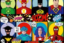 Comic Strip Fabric /  Comic Strip Fabric, Wallpaper and Gift Wrap