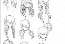 Desenhando cabelo