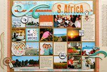 Scrapbooking Layouts | Travel / Travel layout inspiration