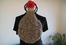 Fancy Bag Crochet Brown White