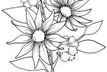 Stempels bloemen