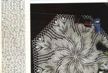 knitting doily/table cloths