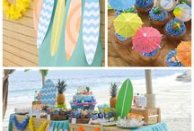 Ali's 10'th birthday - Learn to surf beach party