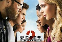 Neighbors 2 (2016) / When their new next-door neighbors turn out to be a sorority even more debaucherous than the fraternity previously living there, Mac and Kelly team with their former enemy, Teddy, to bring the girls down. Staring: Zac Efron, Chloe Grace Moretz, Seth Rogen, Rose Byrne, Kiersey Clemons, Dave Franco, Beanie Feldstein, Selena Gomez, Lisa Kudrow ...