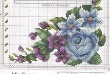 Punto croce fiori