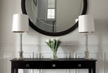Landing black console table