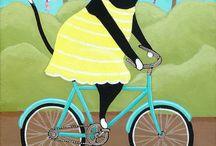 Animals and bicycle / Zwierzęta i rower