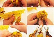 Blumen aus Blättern