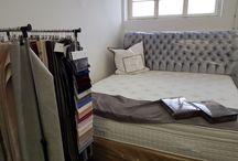 Unsere Betten, Matratzen & Stoffe aus dem Showroom