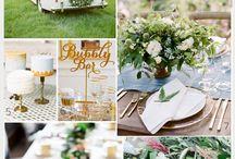 Green White Blush Wedding Concept