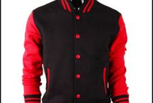 Jaket Bisbol Ariel Black Red