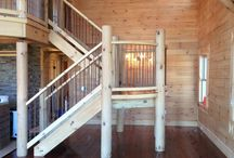 Log and Timber Stairs / Some beautiful and unique ways our homeowners have used our products to beautify their homes.