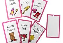 domácí práce kartičky