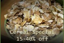 Sales on our website! / These are the specials being offered on our website.
