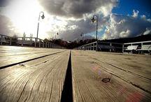 Gdynia Orłowo / Drewniane molo, plaża, zieleń, klif.. Rej na ziemi!  Jeśli tylko północny wiatr zawieje Was do Gdyni - koniecznie musicie odwiedzić tę dzielnicę :)