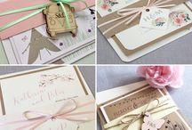 Pastel wedding invitations and stationery