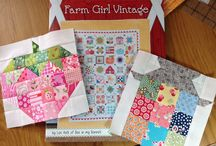 It Looks Vintage,  Quilts and Blocks / Farm Girl Vintage, Mary Jane, Farmers Wife - Vintage Quilts and Blocks