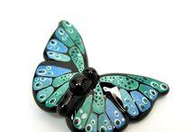 MZ Glass- Butterflies, Moths, Caterpillars, etc.