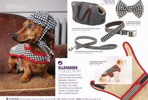 Ellesmere Collection / Perfect for dashing merrily about town, the chic Ellesmere Collection by LoveMyDog  in monochrome tweed was inspired by starlet dogs photographed in Vogue magazine.