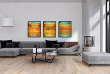 Multi canvas artwork. Paintings with two or more canvases!