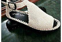 sandalias crochete