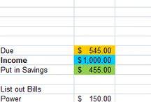 money & budgeting