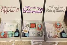 Wedding- Bridesmaid gift boxes