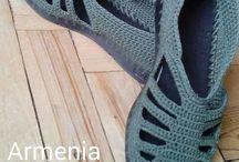 pantofi croșetați