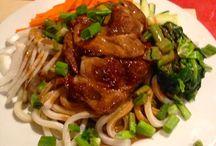 Summer Pork Udon Noodles