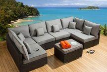 Outdoor garden patio rattan sofas