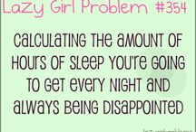 lazy girls problem