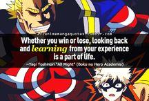 Boku no hero academia quotes