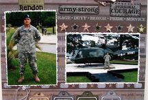 Scrapbook Layouts.... Army / ~ For my hero, my son ~