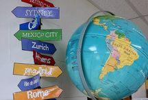 Travel themed classroom