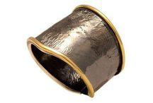 Contemporary silver ring black oxidation