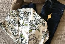 Jen's Closet, Floral Blouses and Graphic Tees