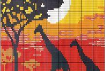cross stitch Afrika