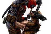 Death pool and Wolverine