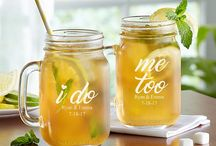 "personalized mason mugs ""I do""   ""me too"""